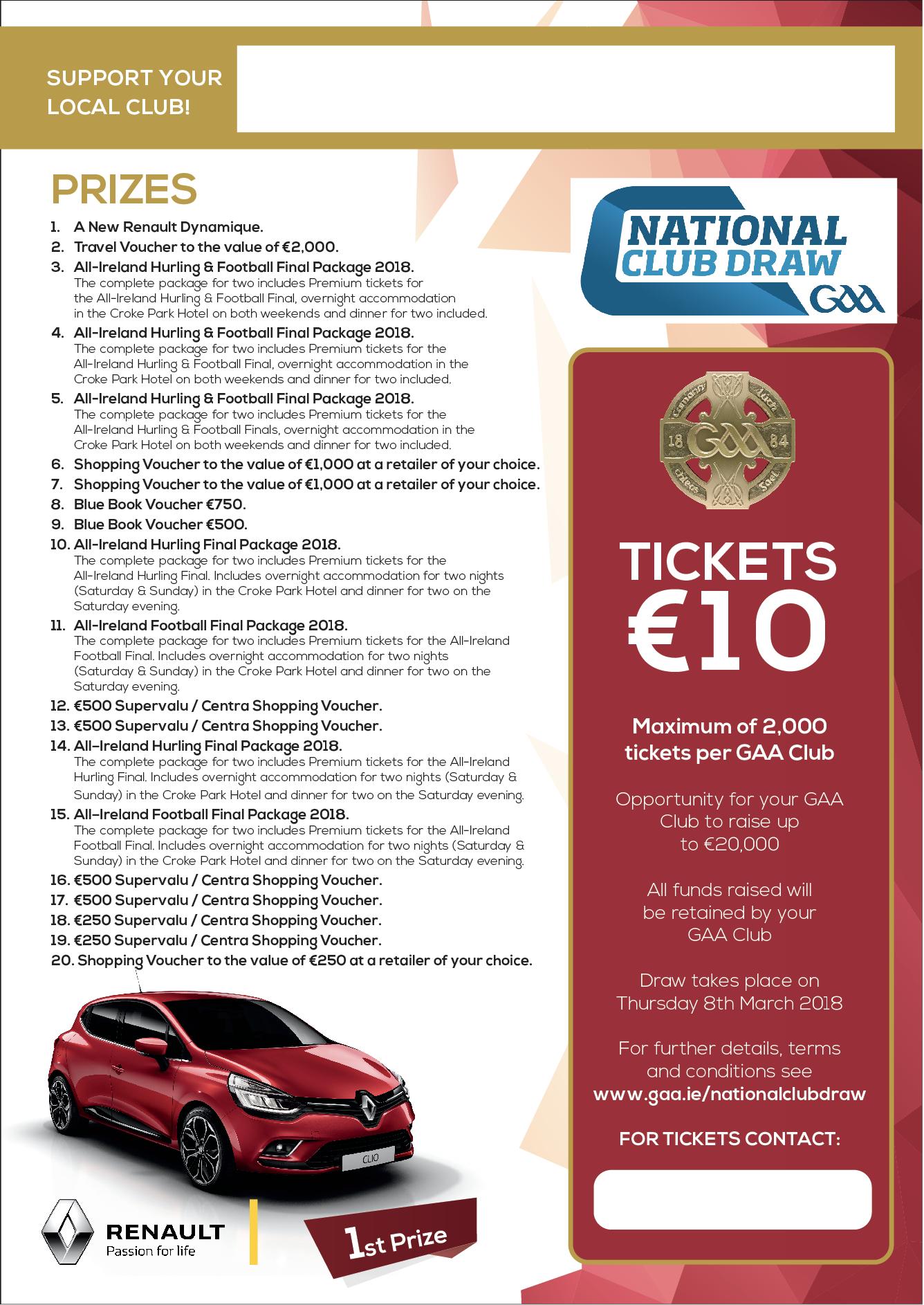 GAA National Club Draw | Club Information | Naomh Mearnóg
